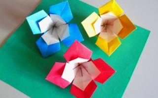 Как сложить цветок из квадратного листа бумаги — Своими Руками