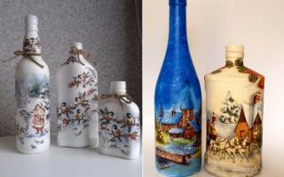 Декупаж бутылки для новичков — Своими Руками