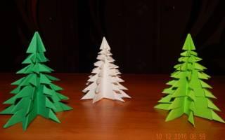 Как сделать елочку в технике оригами — Своими Руками