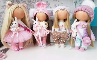 Как сшить текстильную интерьерную куклу — Своими Руками