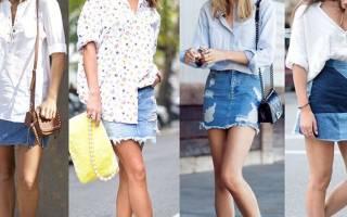 Стильная юбка из старых джинсов — Своими Руками