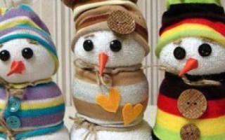 Снеговик из носков — Своими Руками