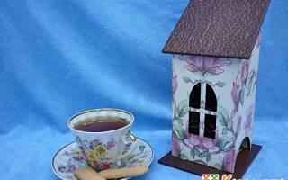 «Чайный домик» в технике декупаж — Своими Руками