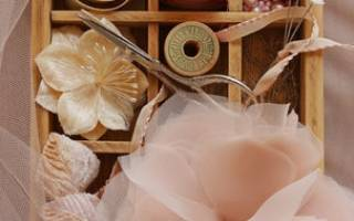 Ободок «Вечер» с цветами из шифона — Своими Руками
