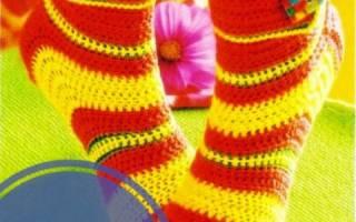 Носочки, связанные крючком — Своими Руками