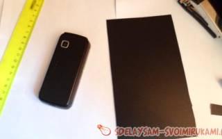 Изготовление чехла для сенсорного мобильного телефона — Своими Руками