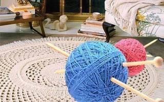 Толстый коврик из пряжи — Своими Руками