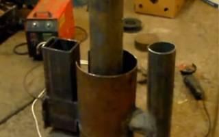 Реактивная печь из газового баллона — Своими Руками