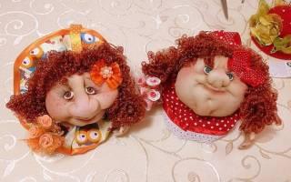 Кукла попик в чулочно-текстильной технике — Своими Руками