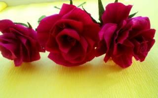 Розы из гофрированной бумаги — Своими Руками