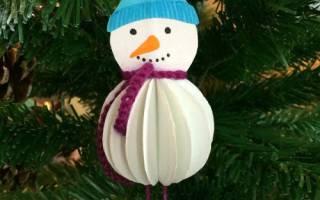 Игрушка на ёлку «Снеговичок» — Своими Руками