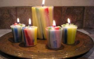 Как сделать красные свечи — Своими Руками