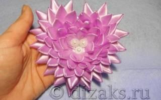Объемная валентинка из атласных лент — Своими Руками