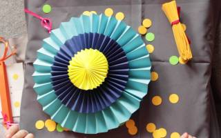 Украшение для стола из бумажных цветов — Своими Руками