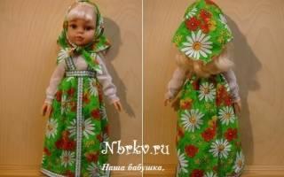 Сарафана с воротником для куклы — Своими Руками