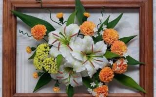 Картины из искусственных цветов — Своими Руками