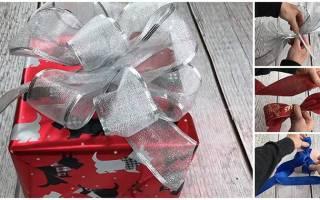 Как сделать пышный бант для подарочной упаковки — Своими Руками