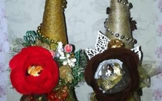 Новогодние елочки с конфетами в технике свит-дизайн — Своими Руками