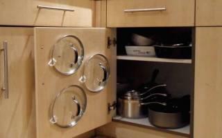 Легкая хитрость найти место для крышек посуды — Своими Руками