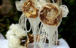 Украшение свадебных бокалов — Своими Руками