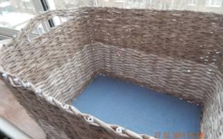 Плетение корзины для белья — Своими Руками