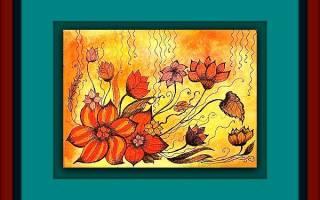 Холодный и теплый колорит: цветочные композиции — Своими Руками