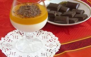 Панакота с апельсиновым соком и шоколадом — Своими Руками