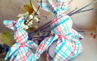 Яйца-зайчики из ткани к весеннему празднику — Своими Руками