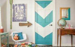 Рисуем морской закат и декорируем старую дверь — Своими Руками