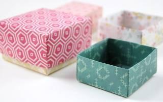 Бумажная коробочка оригами в виде котика — Своими Руками