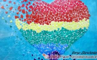 Мозаика «Разбитое сердце» — Своими Руками