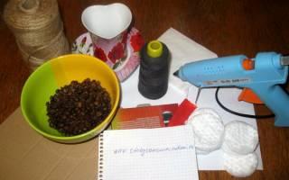 Кофейный топиарий «Сердце» — Своими Руками