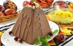 Творожная пасха с шоколадным верхом — Своими Руками
