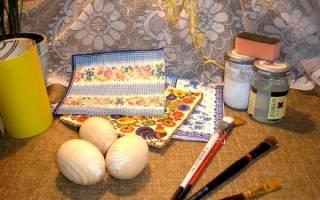 Декупаж яиц у Пасхе — Своими Руками
