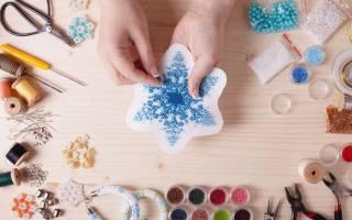 Снежинка из подручных материалов — Своими Руками