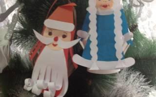 Дед Мороз из цветной бумаги — Своими Руками