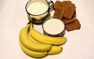 Торт без выпечки из печенья и бананов — Своими Руками