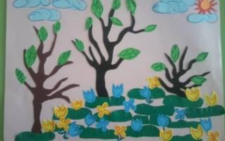 Объемная аппликация «Весна» — Своими Руками