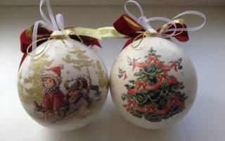 Декупаж новогодних елочных шаров — Своими Руками