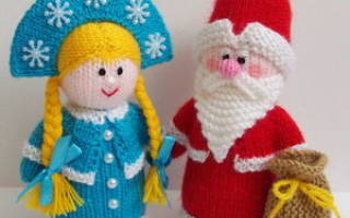 Дед Мороз крючком — Своими Руками
