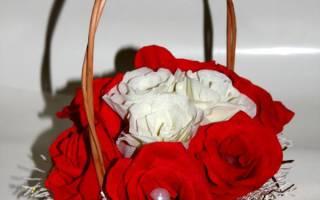Корзинка с цветами из гофробумаги — Своими Руками