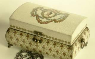 Декупаж деревянной коробки — Своими Руками