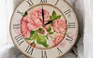 Декупаж настенных часов — Своими Руками