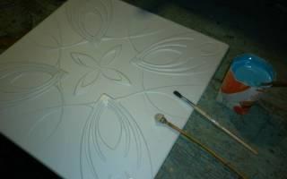 Роспись потолочной плитки акриловой краской — Своими Руками
