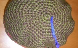 Теплая вязаная шапка к зиме — Своими Руками