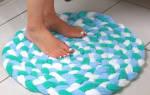 Яркий коврик из старых полотенец — Своими Руками