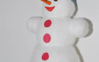 Снеговик из ваты — Своими Руками