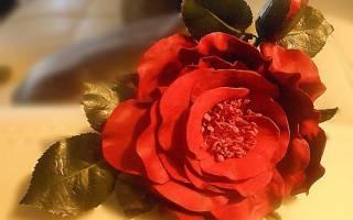 Пышный кожаный цветок — Своими Руками