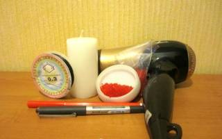 Декорируем свечу бисером — Своими Руками