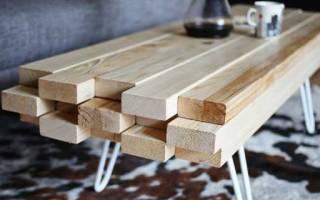 Стол и лавка из цельной доски — Своими Руками